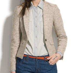 Madewell sandpun tweed one button jacket / blazers
